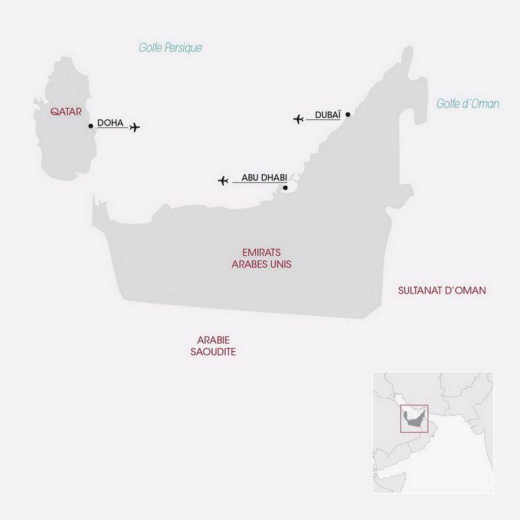Carte Abu Dhabi