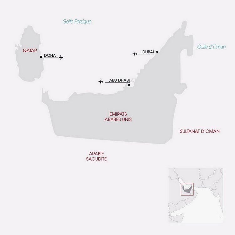 Carte Dubaï