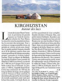 Kirghizistan - Autour des Lacs